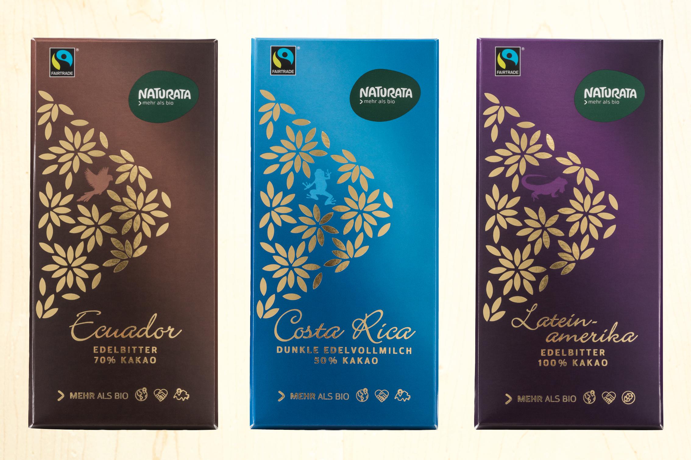 Naturata Schokoladen im neuen Design