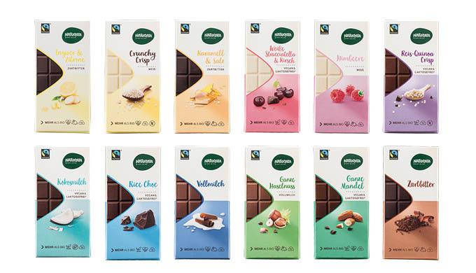 Weitere Schokoladensorten von Naturata