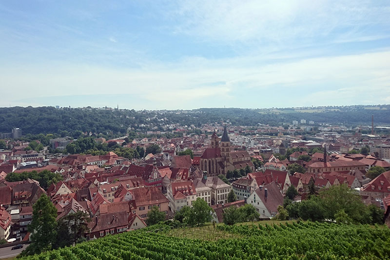 Ausblick auf die große Kriesstadt Esslingen