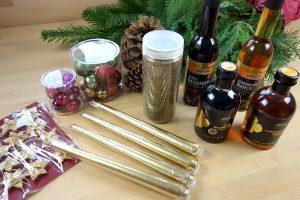 Material für Adventsgesteck